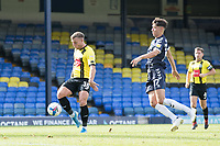 Jack Muldoon, Harrogate Town,  fires the visitors into the lead during Southend United vs Harrogate Town, Sky Bet EFL League 2 Football at Roots Hall on 12th September 2020