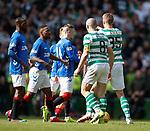 31.03.2019 Celtic v Rangers: Ryan Kent walks away after Scott Brown flashpoint
