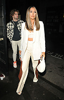 Frankie Sims and Joe Garratt at the boohooMan Love Island Party, boohoo, Great Portland Street, on Thursday 07th October 2021, in London, England, UK. <br /> CAP/CAN<br /> ©CAN/Capital Pictures