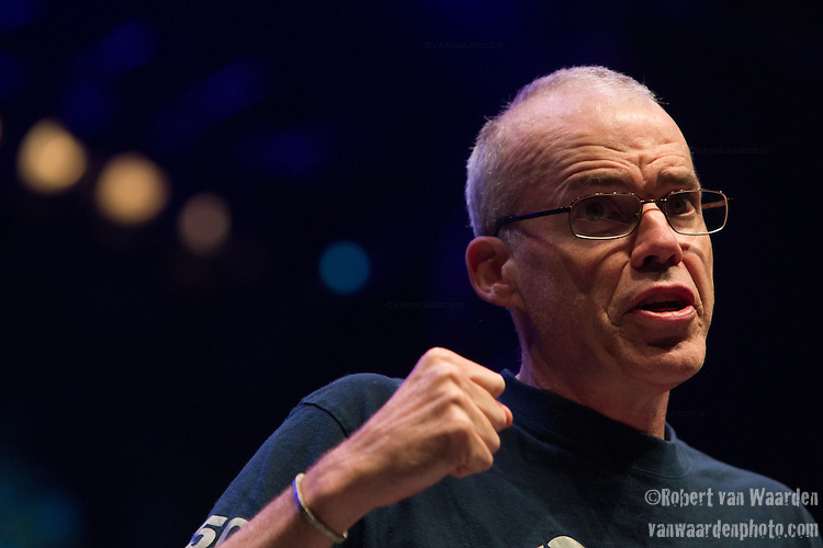 Bill McKibben from 350.org delivers a keynote speech at Powershift. Over six thousand young people from all over the country are converging in Pittsburgh, PA for Power Shift 2013, a massive training dedicated to bringing about a safe planet and a just future for all people. (Photo by: Robert van Waarden)