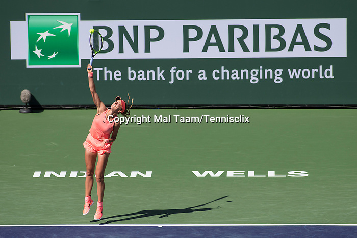March 11, 2018: Victoria Azarenka (BLR) defeated by Sloane Stephens (USA) 6-1, 7-5 at the BNP Paribas Open played at the Indian Wells Tennis Garden in Indian Wells, California. ©Mal Taam/TennisClix/CSM