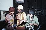 The Black Eye Peas members, William Adams aka will.i.am, Allan Pineda Lindo aka apl.de.ap & Jaime Luis Gomez aka Taboo backstage at the Gypsy Tea Room in Deep Ellum, Dallas, Texas on June 2, 2000.  Photo credit: Presswire News/Elgin Edmonds