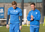 St Johnstone Training….28.10.16<br />Liam Craig and Chris Millar pictured during training this morning at McDiarmid Park ahead of tomorrow's game against Partick Thistle.<br />Picture by Graeme Hart.<br />Copyright Perthshire Picture Agency<br />Tel: 01738 623350  Mobile: 07990 594431