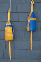 Lobster Buoys, Great Island, Castine, Maine, US
