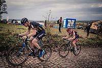 Toon Aerts (BEL/Telenet-Baloise Lions) & Eli Iserbyt (BEL/Pauwels Sauzen-Bingoal) up the infamous Koppenberg.<br /> <br /> Koppenbergcross 2020 (BEL)<br /> men's race<br /> <br /> ©kramon