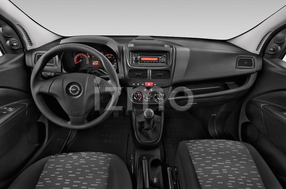 Stock photo of straight dashboard view of a 2015 Opel COMBO LiHI 4 Door Cargo Van 2WD Dashboard