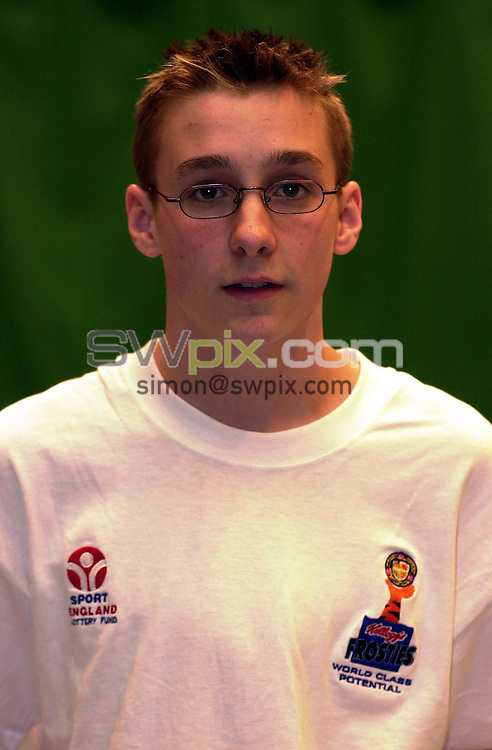 Pix:Ben Duffy/SWpix...World Class Potential Swimming camp(Boys ages 14-17)...23/02/2001..COPYRIGHT PICTURE>>SIMON WILKINSON..Scott McCormickpictured at the British World Class swimming camp