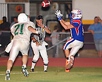 John Curtis receiver Josh Hanberry hauls in a 9 yard touchdown pass from Bryce Jenkins as the John Curtis Patriots went on to defeat the Newman Greenies 34-7.