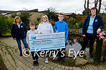 The Leen family from Ballymac present the sum of €11,500 from their bake sale in memory of the late David Leen to Recovery Haven on Monday. L to r: Kathleen Collins, Sam, Kate and Harvey Leen and Philomena Stack.