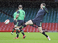 Monday 3 November 2014<br />Pictured: Sam Warburton<br />Re: Wales rugby squad train for the Dove Men series autumn internationals on the new pitch at the Millennium Stadium, Cardiff, United Kingdom.