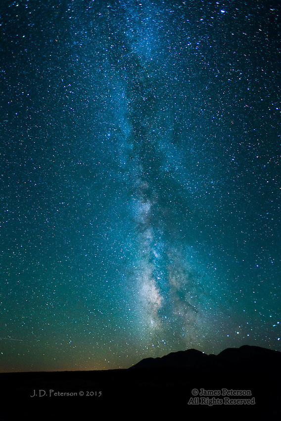 Milky Way over Abajo Mountains, Utah