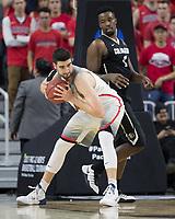 LAS VEGAS, NV - March 9, 2017: Arizona Wildcats Men's Basketball team vs. the Colorado Buffaloes.  Final Score: Arizona Wildcats 92, Colorado Buffaloes 78