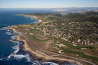 aerial photograph of 17 Mile Drive, Monterey Peninsula Country Club, Pebble Beach, Monterey County, California