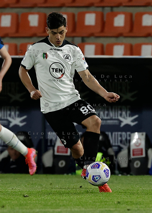 Kevin Agudelo  during the  italian serie a soccer match,Spezia Inter Milan at  the STadio Picco in La Spezia Italy ,