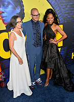 """LOS ANGELES, USA. October 15, 2019: Nicole Kassell, Damon Lindelof & Regina King at the premiere of HBO's """"Watchmen"""" at the Cinerama Dome, Hollywood.<br /> Picture: Paul Smith/Featureflash"""
