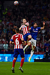 Saul Niguez of Atletico de Madrid and Raul Garcia of Athletic Club de Bilbao during the La Liga match between Atletico de Madrid and Athletic Club de Bilbao at Wanda Metropolitano Stadium in Madrid, Spain. October 26, 2019. (ALTERPHOTOS/A. Perez Meca)