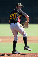Pittsburgh Pirates minor league pitcher Zackry Dodson (90) vs. the New York Yankees in an Instructional League game at the New York Yankees Minor League Complex in Tampa, Florida;  October 8, 2010.  Photo By Mike Janes/Four Seam Images