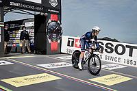 Audrey Cordon-Ragot (FRA/Trek-Segafredo) at the race start in Knokke-Heist<br /> <br /> Women Elite Individual Time Trial from Knokke-Heist to Bruges (30.3 km)<br /> <br /> UCI Road World Championships - Flanders Belgium 2021<br /> <br /> ©kramon