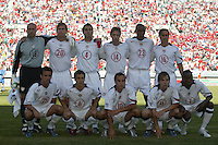 The US starting 11. U.S.A. defeated Costa Rica 3 - 0 in final round World Cup qualifying at Rice-Eccles Stadium, Salt Lake City, UT, on June 4, 2005.