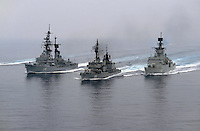 - STANAVFORMED, NATO permanent naval force in Mediterranean sea, from left: the German frigate Luetjens, the Greek destroyer Kanaris and the Spanish frigate Extremadura ....STANAVFORMED, forza navale permanente NATO del mare Mediterraneo, da sinistra: la fregata tedesca Luetjens, il cacciatorpediniere greco Kanaris e la fregata spagnola Extremadura