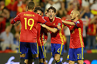 Spain's Rodrigo Moreno, Isco Alarcon, Alvaro Odriozola and David Jimenez Silva during FIFA World Cup 2018 Qualifying Round match. October 6,2017.(ALTERPHOTOS/Acero) /NortePhoto.com /NortePhoto.com