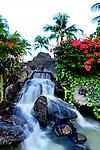 Waterfall and foliage at Christmas Island