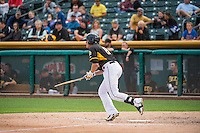 Josh Rutledge (8) of the Salt Lake Bees at bat against the Oklahoma City Dodgers in Pacific Coast League action at Smith's Ballpark on May 25, 2015 in Salt Lake City, Utah.  (Stephen Smith/Four Seam Images)