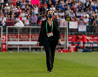 EAST HARTFORD, CT - JULY 5: Kate Markgraf of the USWNT walks on the field during a game between Mexico and USWNT at Rentschler Field on July 5, 2021 in East Hartford, Connecticut.