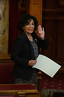 Pictured: Dame Shirley Bassey is given the freedom of her home city, during a ceremony at the Cardiff City Hall, Wales, UK. Friday 17 May 2019<br /> Re: Dame Shirley Bassey is given the freedom of her home city, during a ceremony at the Cardiff City Hall, Wales, UK.