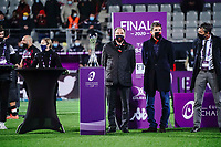 16th October 2020, Stade Maurice David, Aix-en-Provence, France;  Challenge Cup Rugby Final Bristol Bears versus RC Toulon;  Bruno Muselier waist for the trophy presentation