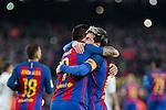 FC Barcelona's Luis Suarez, Neymar Santos Jr , Leo Messi   during spanish La Liga match between Futbol Club Barcelona and Real Madrid  at Camp Nou Stadium in Barcelona , Spain. Decembe r03, 2016. (ALTERPHOTOS/Rodrigo Jimenez)