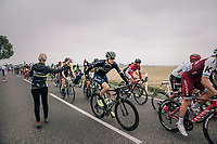Jens Keukeleire (BEL/Orica Scott) coming through the feedzone<br /> <br /> 104th Tour de France 2017<br /> Stage 2 - Düsseldorf › Liège (203.5km)