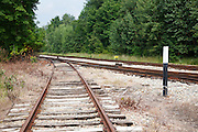 This is the location of where the old Bartlett and Albany Railroad joined into the Maine Central Railroad in Bartlett, New Hampshire USA. The Bartlett and Albany was a logging railroad in operation from 1887 - 1894