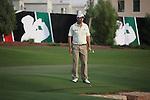 Dubai World Championship Golf. Earth Course,.Jumeirah Golf Estate, Dubai, U.A.E...Padraig Harrington walks round where his ball lies in the water in the 18th during the second round of the Dubai World Golf championship..Photo: Fran Caffrey/www.golffile.ie...