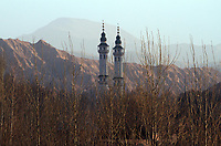 A mosque on the Qinghai-Tibetan Plateau. China