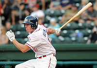 May 30, 2009: Outfielder Mitch Dening (17) of the Greenville Drive, No. 25 prospect of the Boston Red Sox, in a game against the Charleston RiverDogs at Fluor Field at the West End in Greenville, S.C. Photo by: Tom Priddy/Four Seam Images