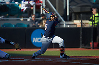TaylorJackson (15) of the Illinois Fighting Illini follows through on his swing against the Coastal Carolina Chanticleers at Springs Brooks Stadium on February 22, 2020 in Conway, South Carolina. The Fighting Illini defeated the Chanticleers 5-2. (Brian Westerholt/Four Seam Images)