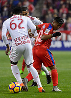 Harrison, NJ - Thursday March 01, 2018: Michael Chirinos. The New York Red Bulls defeated C.D. Olimpia 2-0 (3-1 on aggregate) during a 2018 CONCACAF Champions League Round of 16 match at Red Bull Arena.