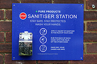 A hand sanitiser station is seen ahead of Wanstead and Snaresbrook CC vs Hornchurch CC, Hamro Foundation Essex League Cricket at Overton Drive on 8th May 2021
