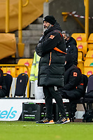 7th February 2021; Molineux Stadium, Wolverhampton, West Midlands, England; English Premier League Football, Wolverhampton Wanderers versus Leicester City; Nuno Manager of Wolverhampton Wanderers watches the game