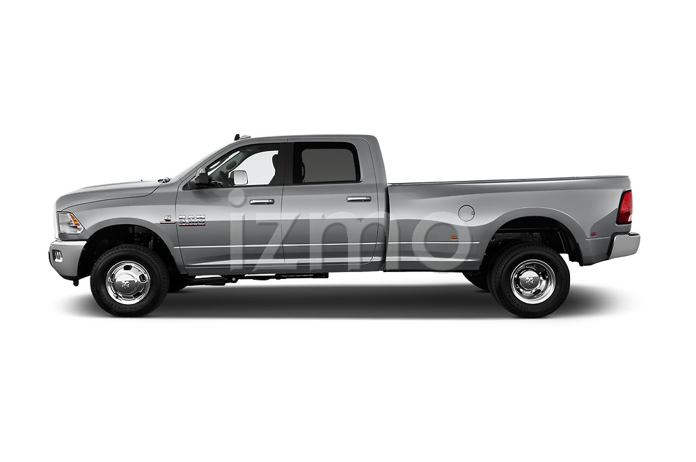 Car driver side profile view of a 2017 Ram 3500 Big Horn 4 Door Pick Up