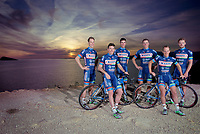 Antoine Demoitié (BEL/Wanty-Groupe Gobert) far left on an official Team Photo of the Walonian riders/friends in the team<br /> <br /> Pro Cycling Team Wanty-Groupe Gobert<br /> 2016 pre-season training camp in Alicante, Spain