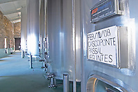 sign on tank cascoponte quinta do cotto douro portugal