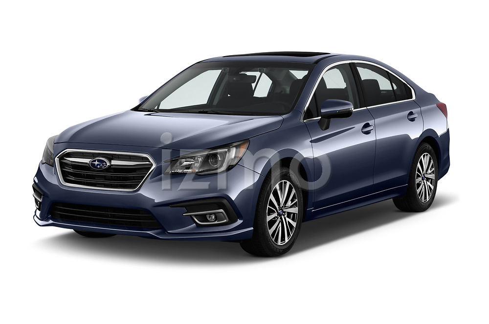 2018 Subaru Legacy Premium 4 Door Sedan angular front stock photos of front three quarter view