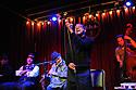Musician John Boutte at dba bar on Frenchmen street with Mark McGrain, Wendell Brunious, Loren Pickford, Nobu Osaki, and Todd Duke.