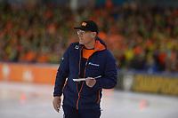 SPEEDSKATING: HEERENVEEN: 11-01-2020, IJsstadion Thialf, European Championship distances, Jillert Anema (coach NED), ©foto Martin de Jong