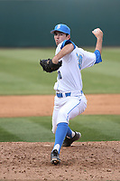 Matt Walker (30) of the of UCLA Bruins pitches against the University of San Diego Toreros at Jackie Robinson Stadium on March 4, 2017 in Los Angeles, California.  USD defeated UCLA, 3-1. (Larry Goren/Four Seam Images)