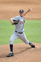 October 5, 2009:  Pitcher Adam Wilk of the Detroit Tigers organization delivers a pitch during an Instructional League game at Space Coast Stadium in Viera, FL.  Wilk was selected in the 11th round of the 2009 MLB Draft.  Photo by:  Mike Janes/Four Seam Images