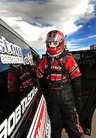 Oct. 31, 2008; Las Vegas, NV, USA: NHRA funny car driver Bob Tasca III during qualifying for the Las Vegas Nationals at The Strip in Las Vegas. Mandatory Credit: Mark J. Rebilas-