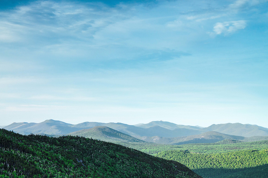 An early summers' morn', looking south down Pinkham Notch.